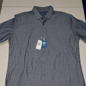 Vince Camuto Indigo Checkered Button Down Shirt